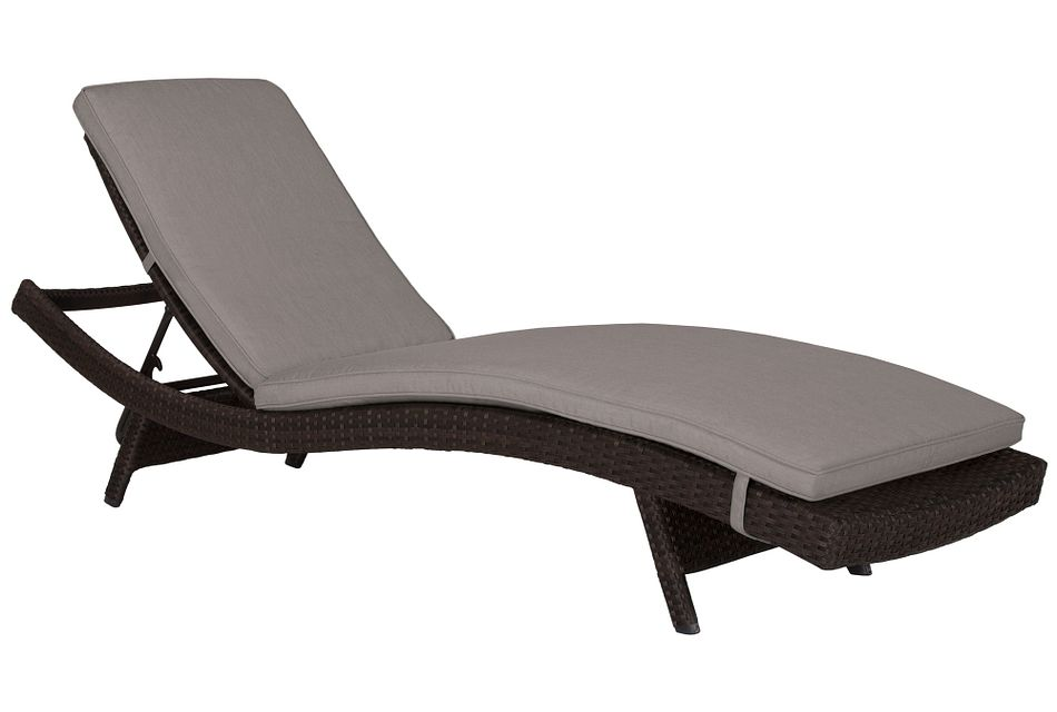 Grate Gray Cushioned Chaise