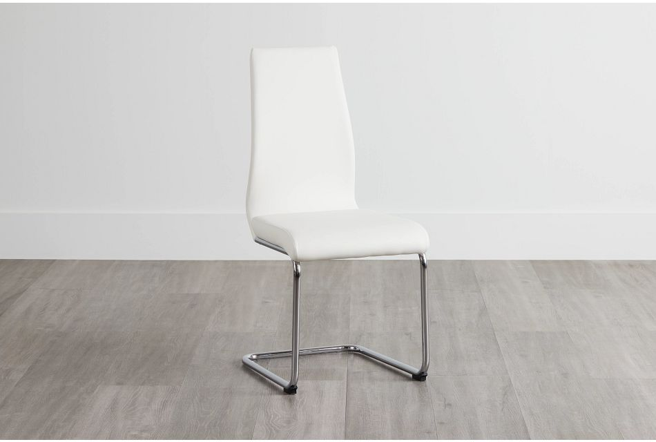 Lennox White Upholstered Side Chair
