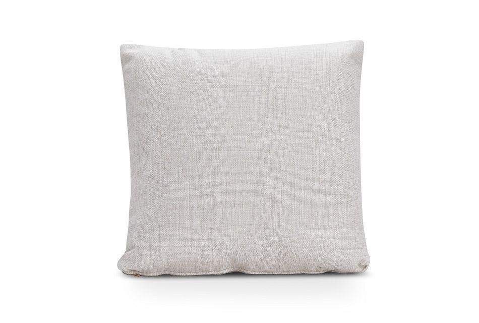 Ripley Light Beige Fabric Accent Pillow
