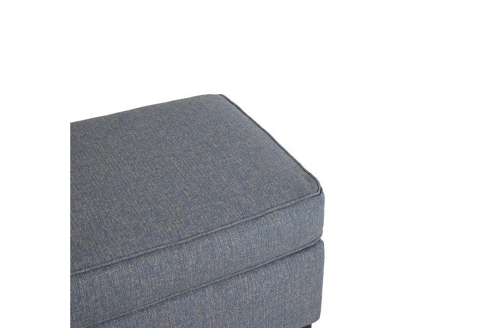 Austin Blue Fabric Ottoman