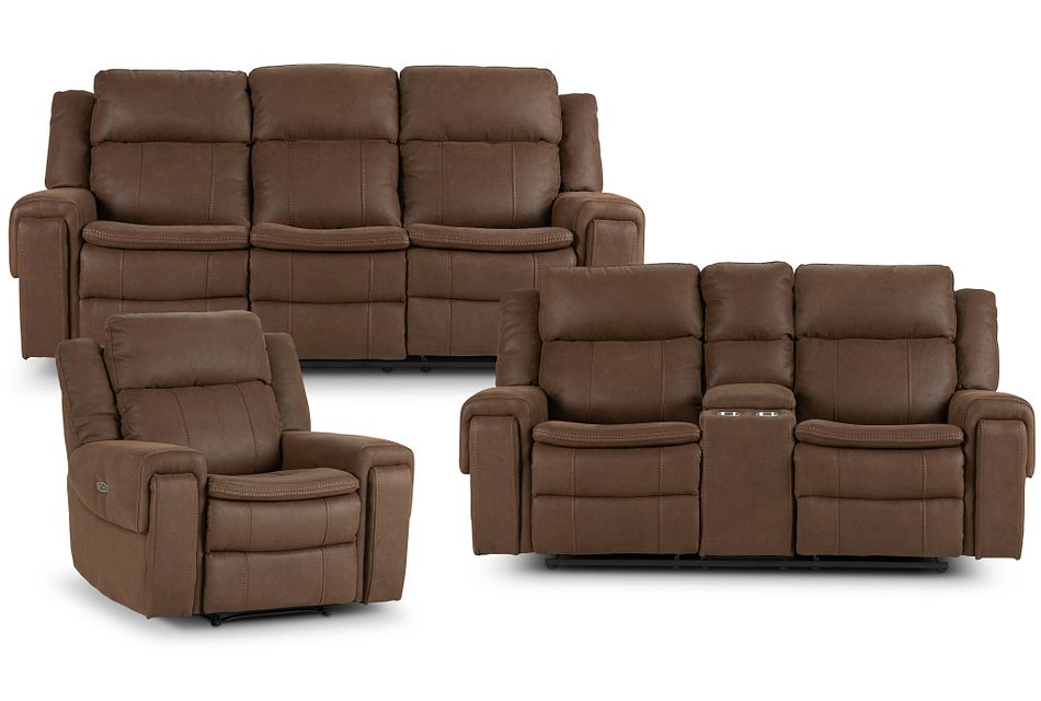 Scout Brown Micro Power Reclining Living Room
