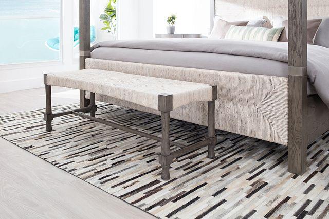 Palma Light Tone Woven Bench (2)