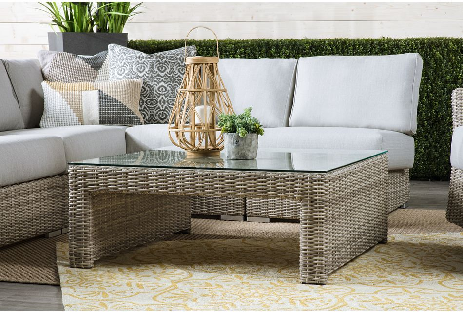 Raleigh Gray Square Coffee Table
