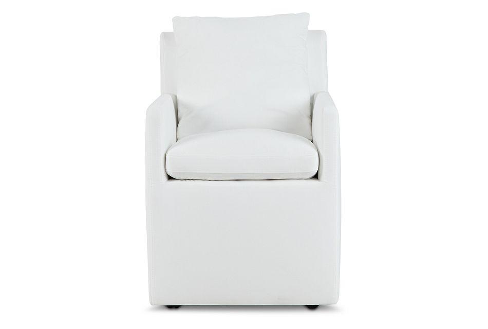 Auden WHITE CASTORED Upholstered Arm Chair,  (3)