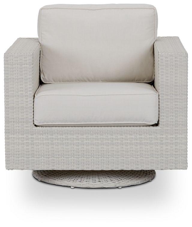 Biscayne White Swivel Chair (2)