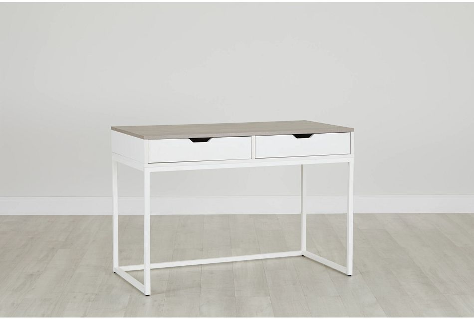 Delray Two-Tone Writing Desk, %%bed_Size%% (0)
