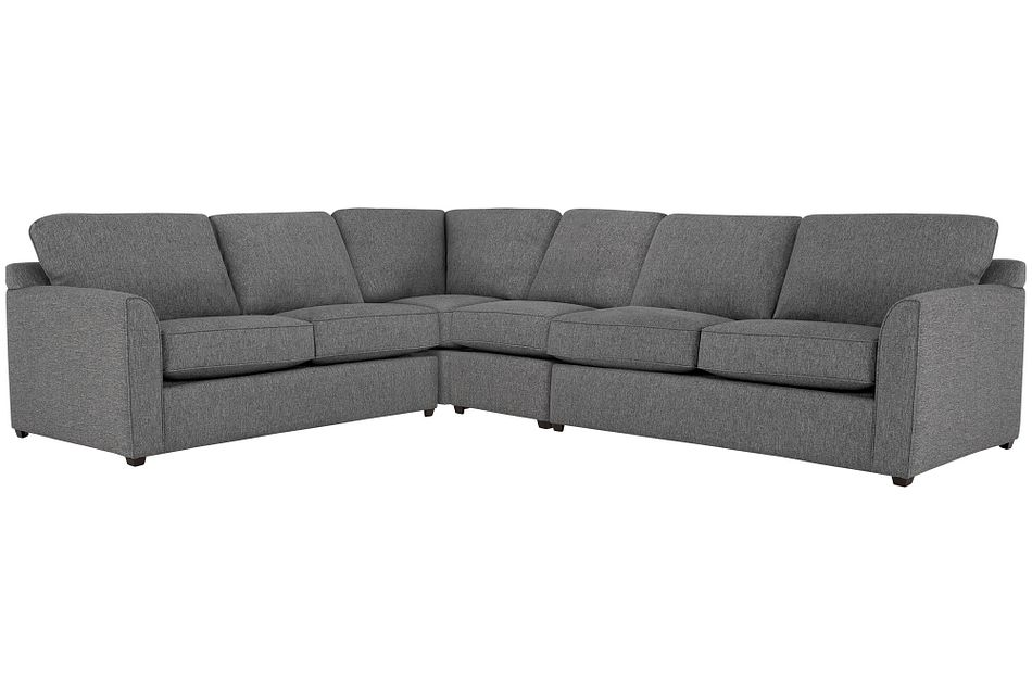 Asheville Gray Fabric Large Two-arm Sectional