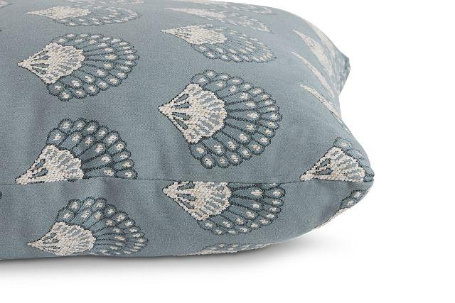 "Chantilly Blue Fabric 20"" Accent Pillow (2)"