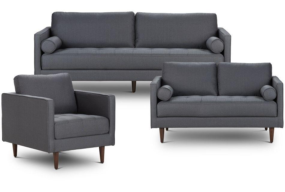 Rue Gray Fabric Living Room