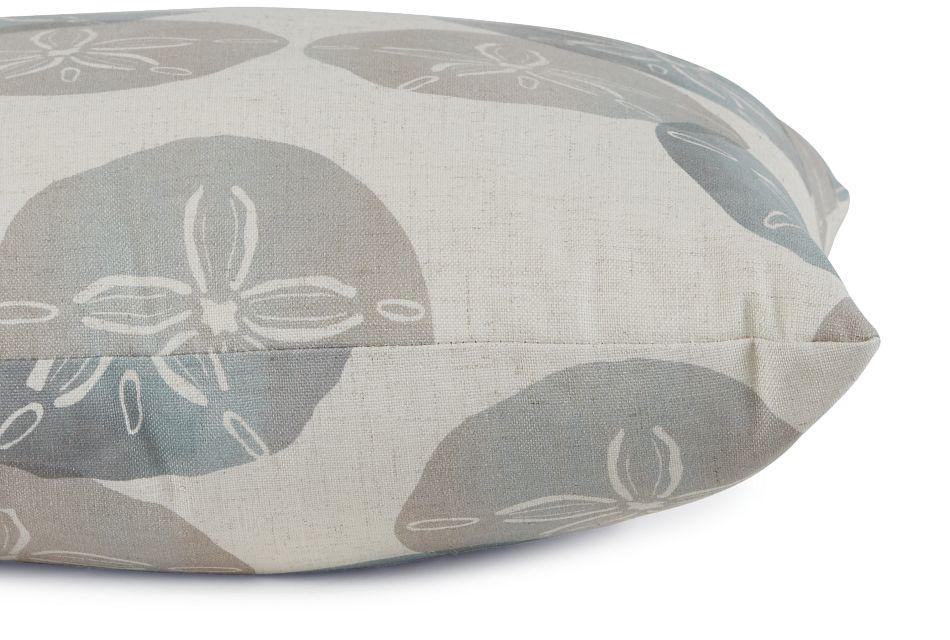 "Sand Dollar Green Fabric 20"" Accent Pillow,  (2)"