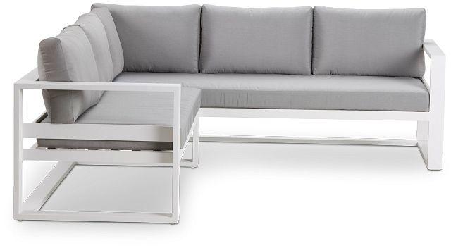 Lisbon Gray Aluminum Small Left Sectional (2)