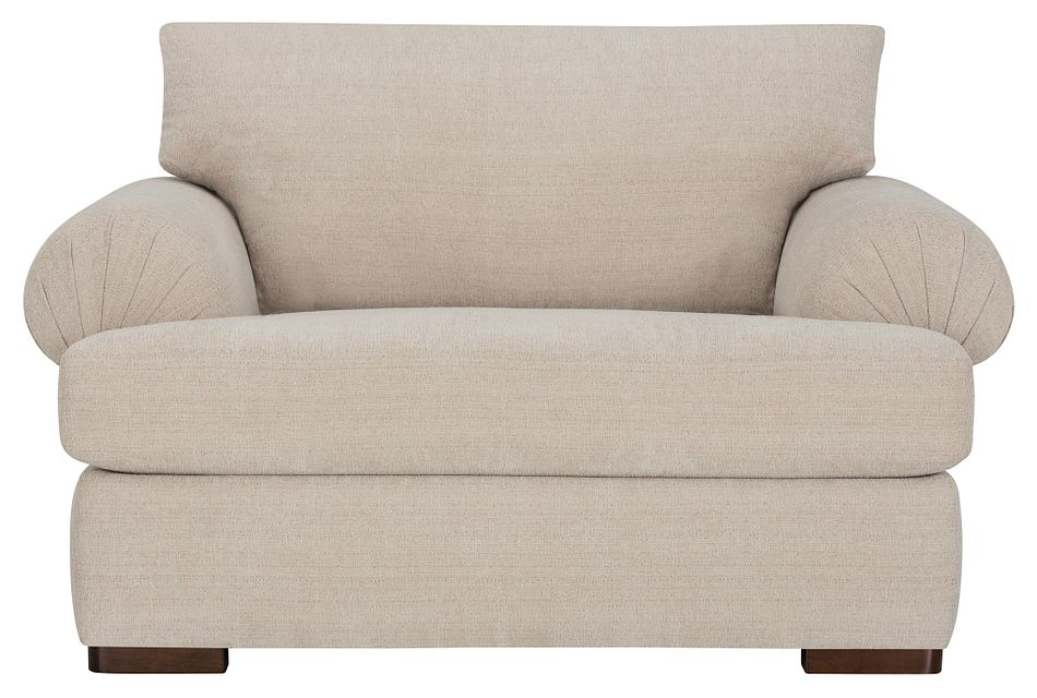 Belair Light Taupe Fabric Large Chair