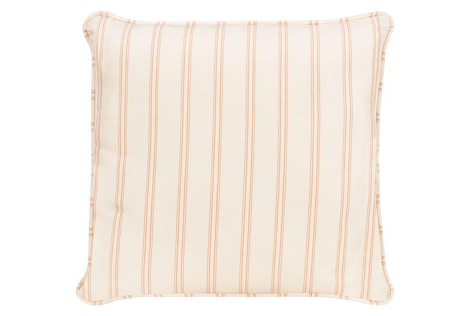 "Espadrille Light Orange 18"" Indoor/outdoor Accent Pillow"
