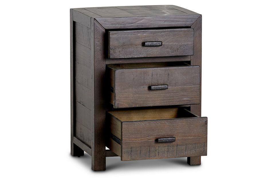 Seattle Dark Tone 3-drawer Nightstand