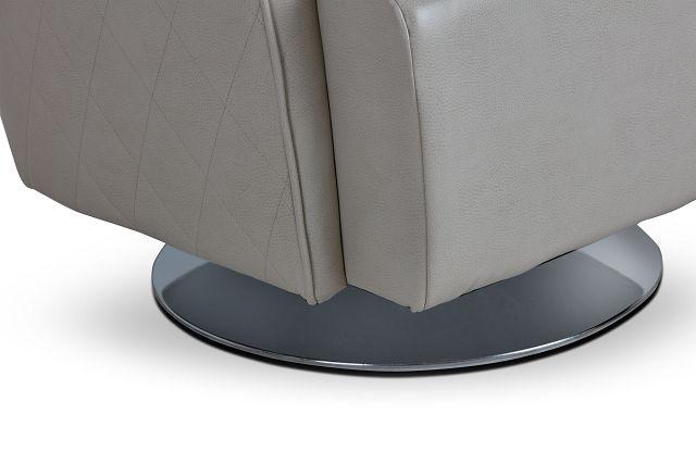 Alec Light Gray Micro Swivel Accent Chair (1)