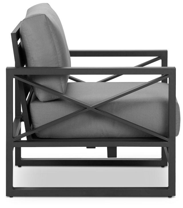 Linear Dark Gray Rocking Chair (2)