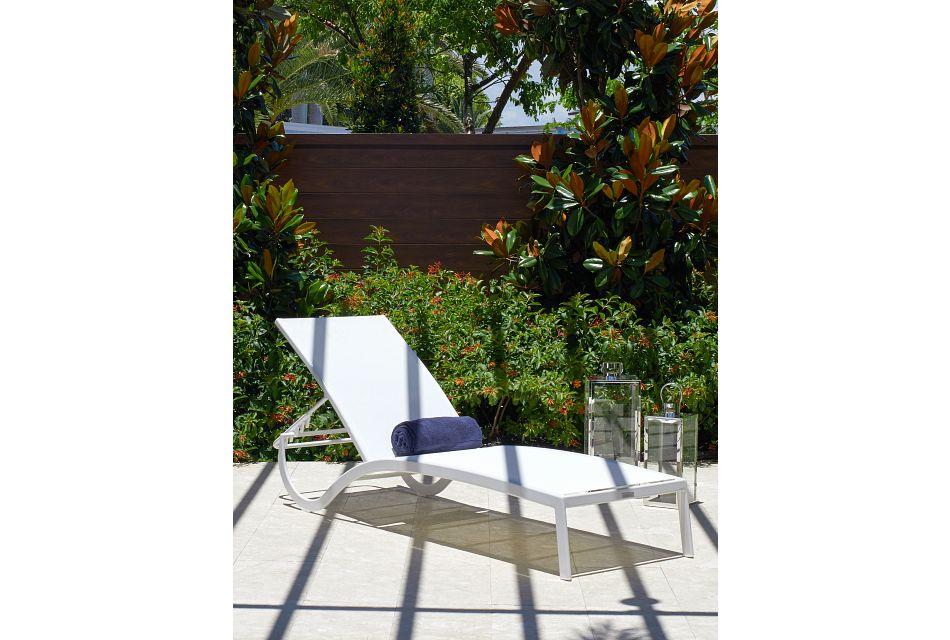 Lisbon2 White Sling Chaise,  (0)