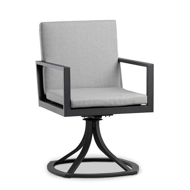 Linear Dark Gray Swivel Arm Chair (0)