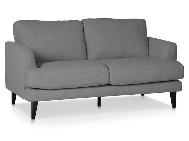 Fremont Gray Fabric Loveseat (1)