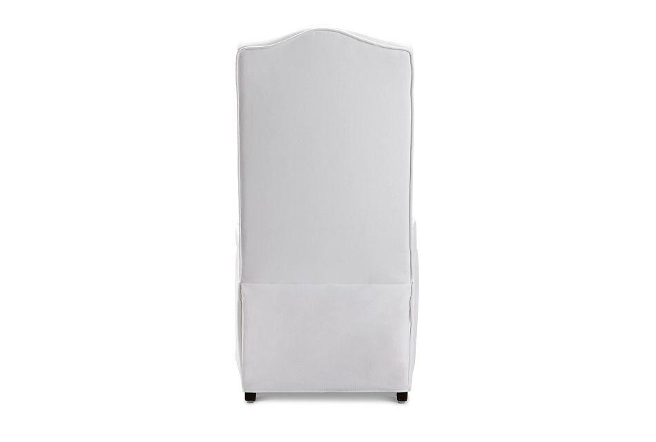 Roman White Skirted Side Chair