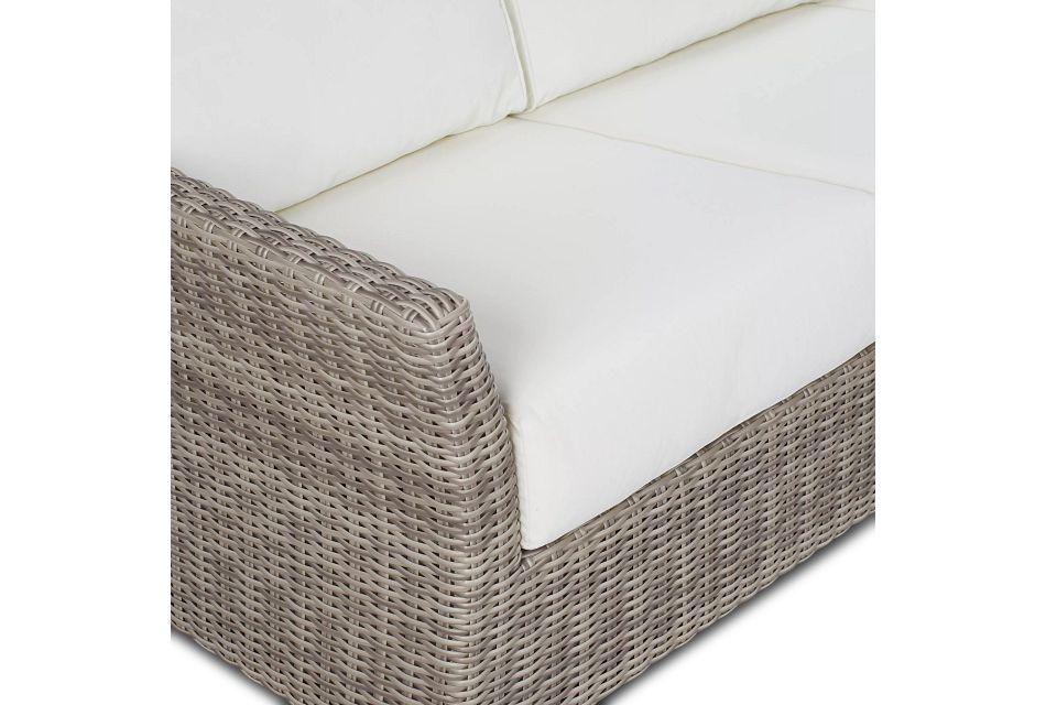 Raleigh White Woven Sofa
