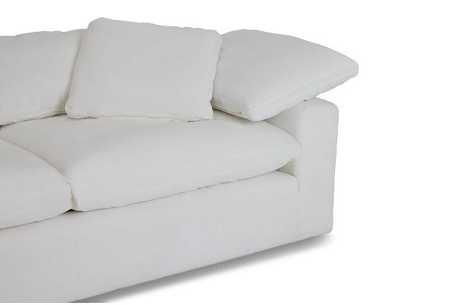 Nixon White Fabric Sofa