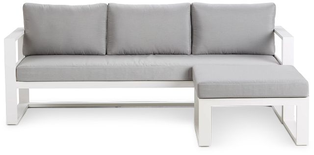 Lisbon Gray Aluminum Chaise Sectional (3)