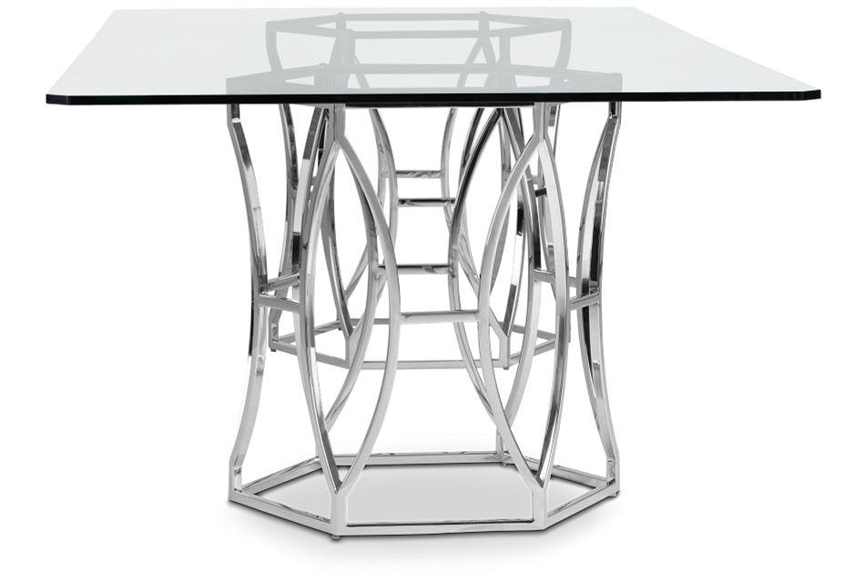 Argent Glass Rectangular Table,  (3)