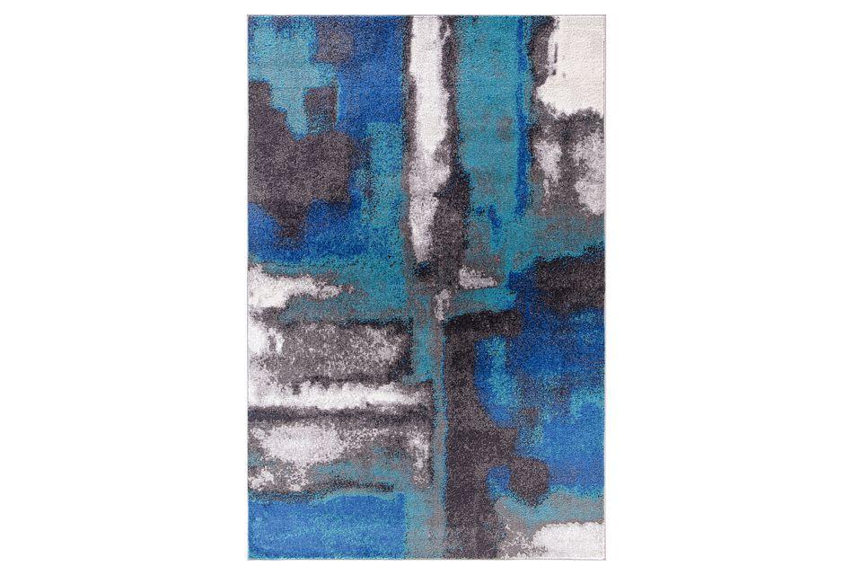 Unison Blue 5x8 Area Rug