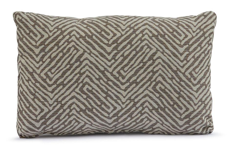 Randili Taupe Lumbar Accent Pillow