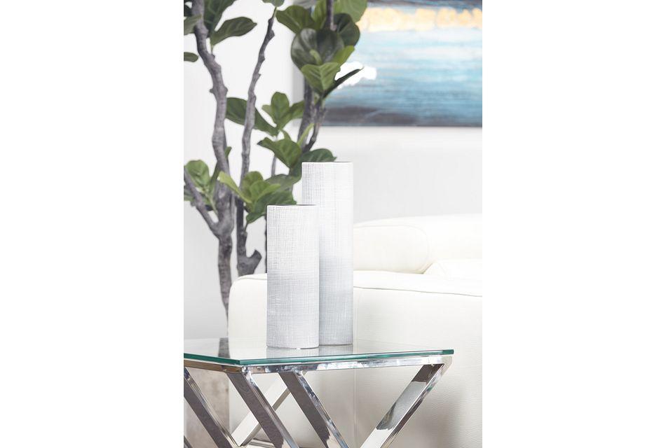 Frost Silver Large Vase
