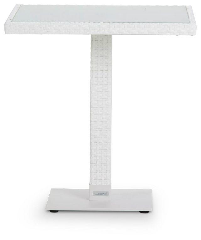 """Lisbon2 White 27"""" Square Table (0)"""