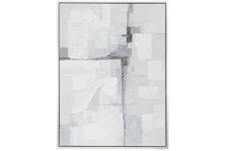 Kyle Light Gray Framed Wall Art