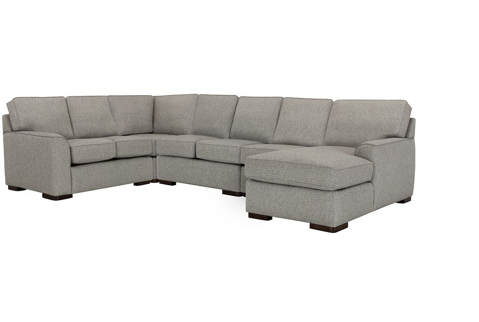 Austin GRAY FABRIC Large Right Chaise Sectional