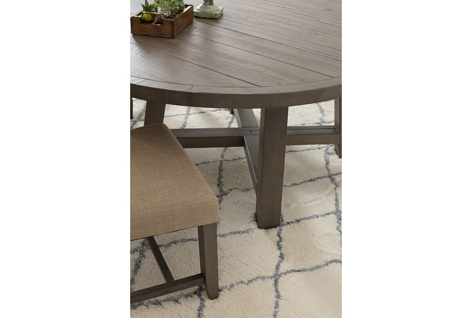 Taryn Gray Round Table & 4 Upholstered Chairs
