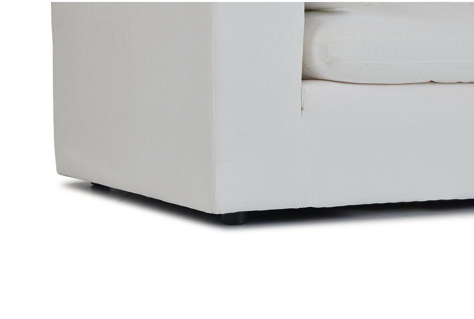 Nixon White Fabric 3 Piece Modular Sofa