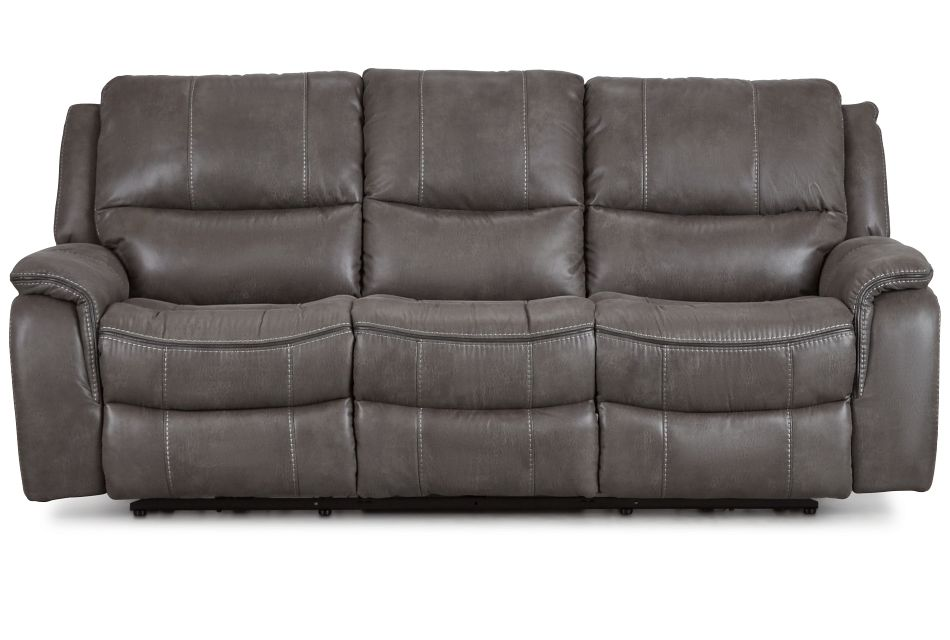 Dober Dark Gray Micro Power Reclining Sofa,  (1)