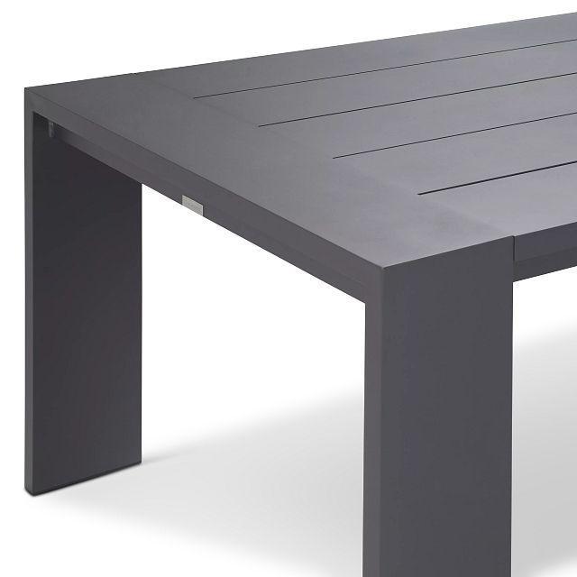 "Linear Dark Gray 70"" Rectangular Table"