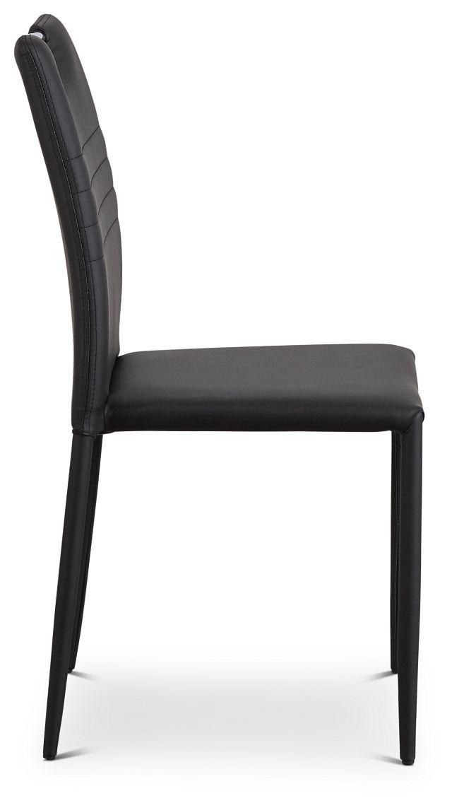 Skyline Black Upholstered Side Chair (2)