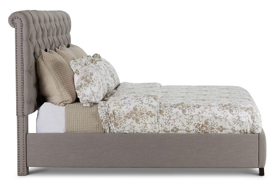 Durham Gray Uph Platform Bed, King (2)