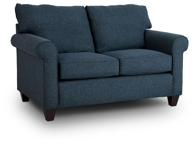 Cameron Blue Fabric Loveseat (2)