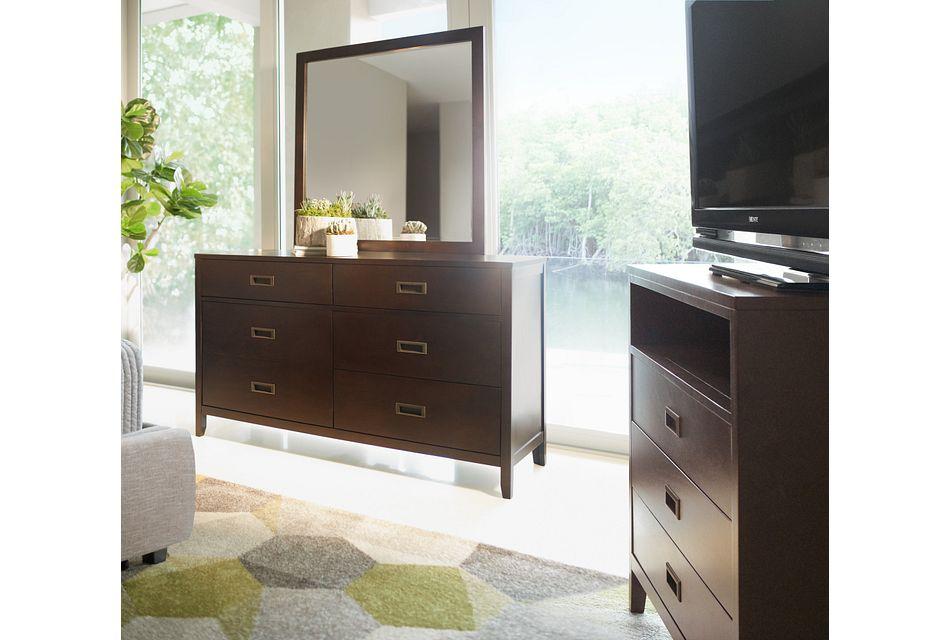 Chatham Dark Tone  Dresser & Mirror,  (1)