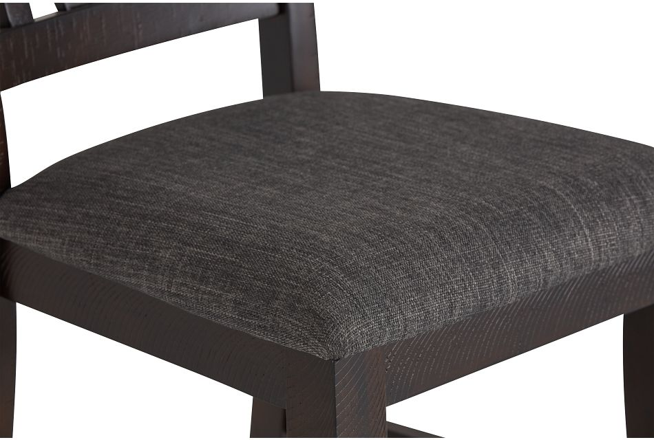 Cash Gray Upholstered Side Chair