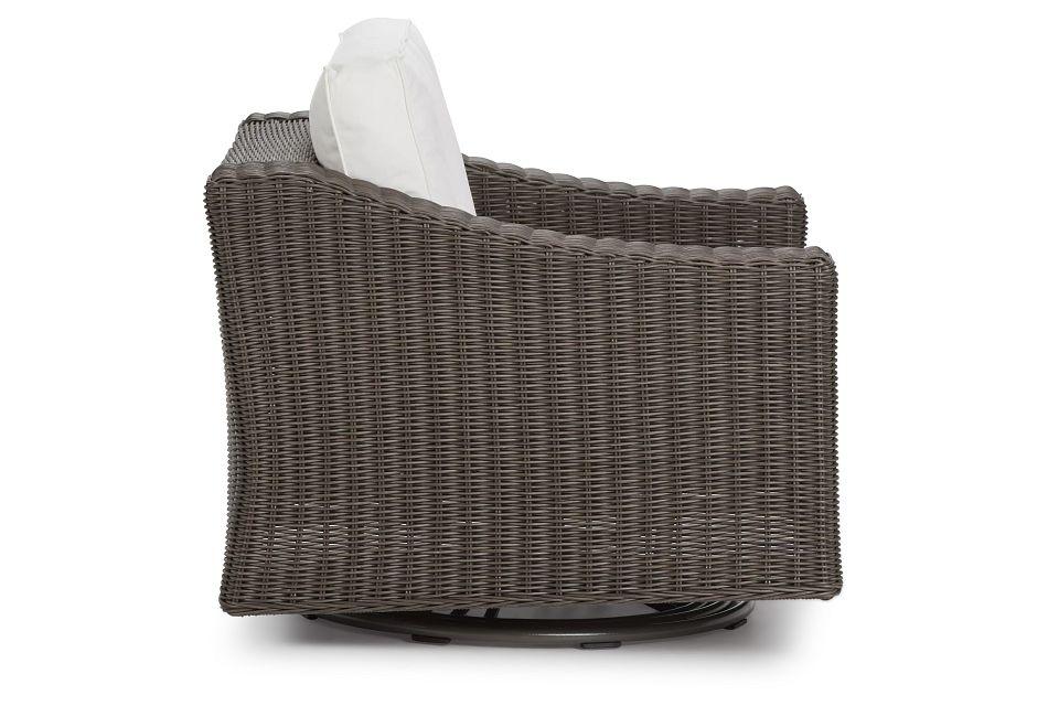 Canyon Gray White Swivel Chair
