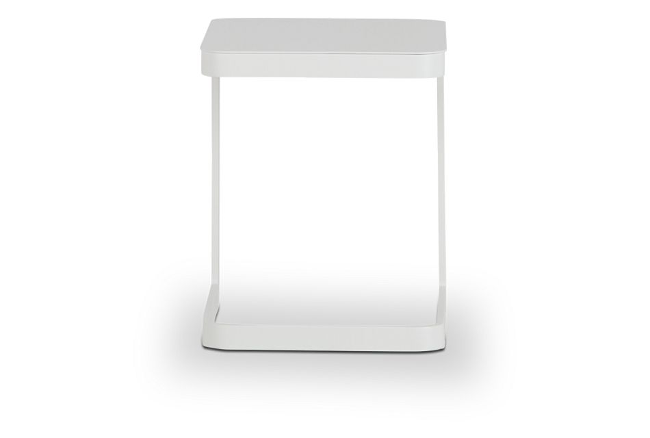 Ibiza White Square Accent Table