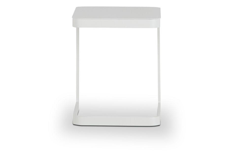 Ibiza White Square Accent Table
