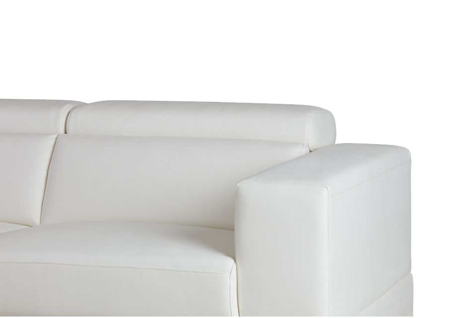 Maxwell White Micro Large Left Chaise Sectional