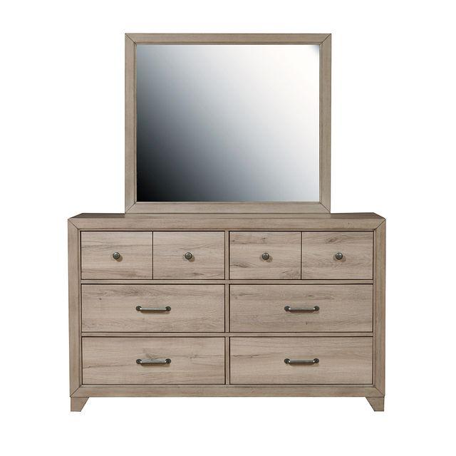 Rivercreek Gray Wood Dresser & Mirror (2)