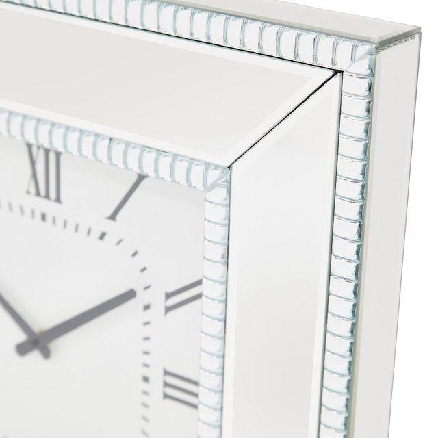 Edie Silver Mirrored Wall Clock (2)