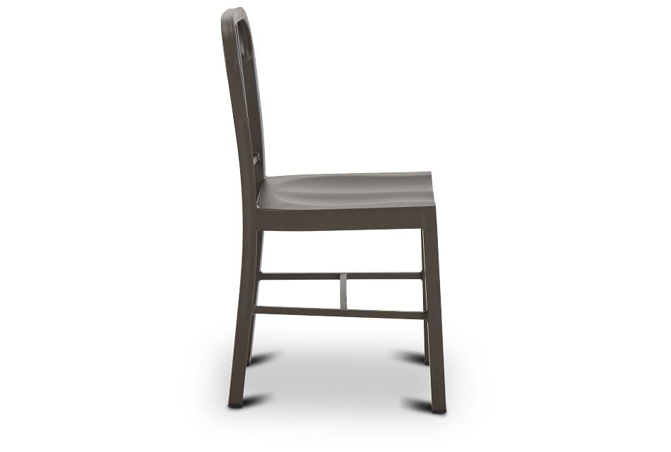 Glen Silver Metal Side Chair,  (2)